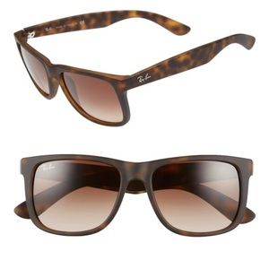 Ray-Bans Justin Brown Rubber Tortoise